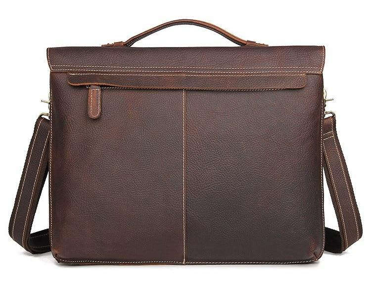 UMER Genuine Leather Briefcase - VINNALEA
