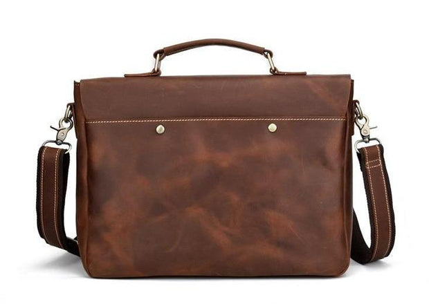 ALIAN Genuine Leather Briefcase - VINNALEA