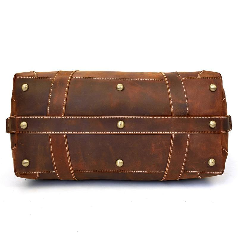 LEATHA Genuine Leather Travel Bag - VINNALEA