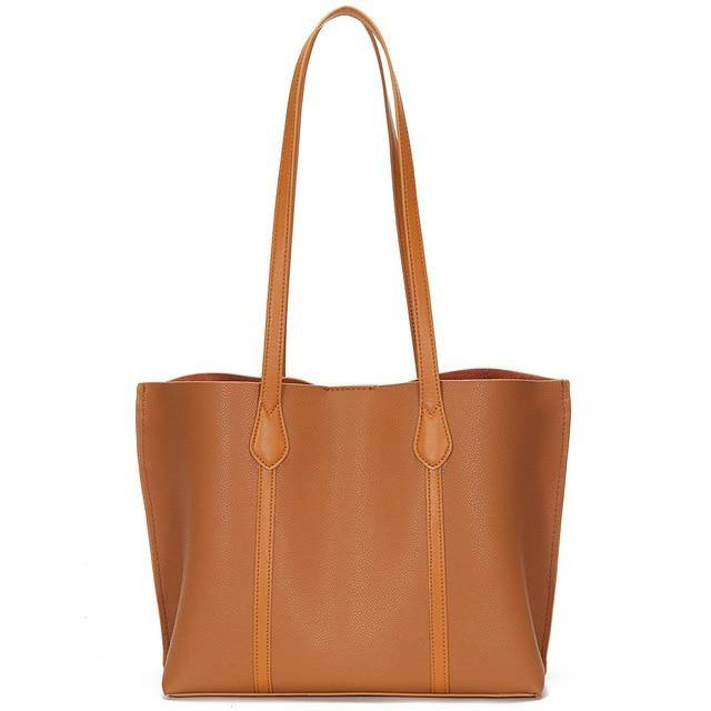 ERMIA Genuine Leather Tote Handbag