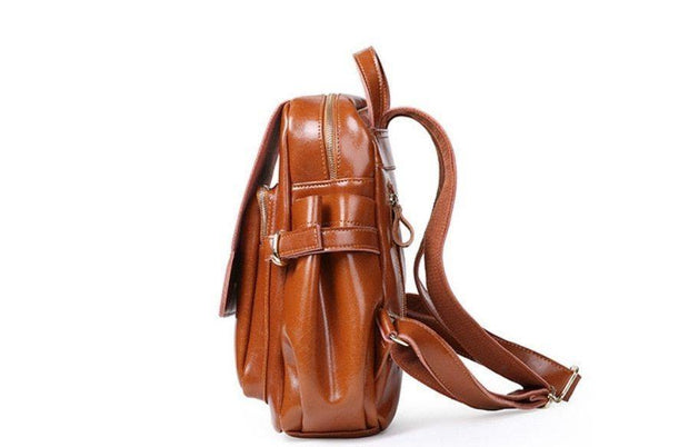 ADITHA Genuine Leather Backpack - VINNALEA