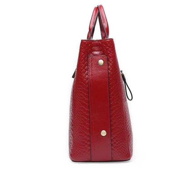 ASIRA Genuine Leather Handbag - VINNALEA
