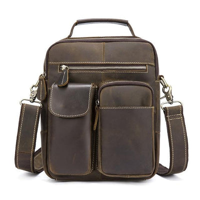 NYDAE Men's Genuine Leather Shoulder Bag