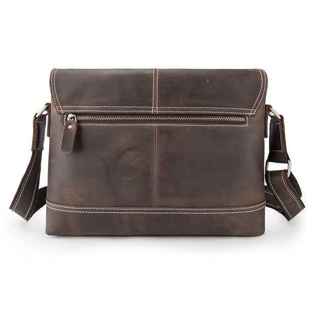 DWAIN Genuine Leather Shoulder Bag - VINNALEA
