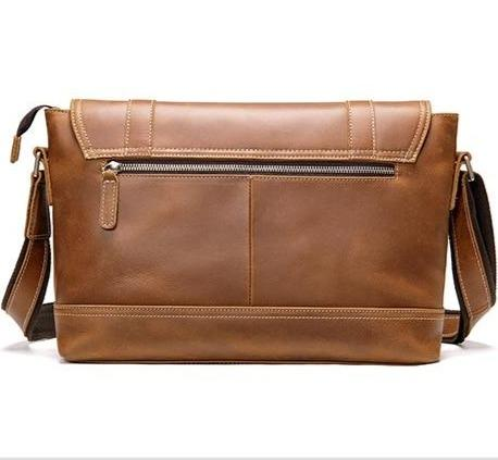 TRALER Large Genuine Leather Shoulder Bag