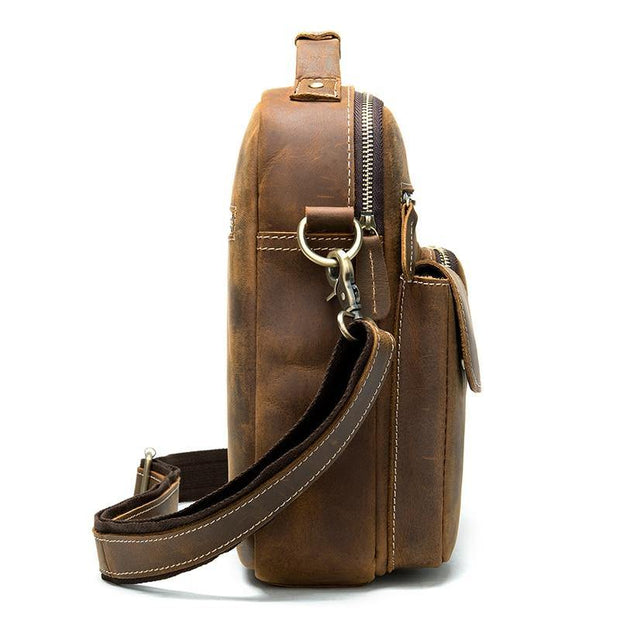 DERU Genuine Leather Shoulder Bag - VINNALEA