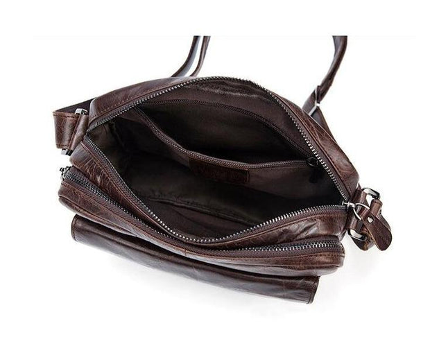 PRENI Men's Genuine Leather Shoulder Bag