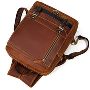 UFEL Genuine Leather Small Backpack