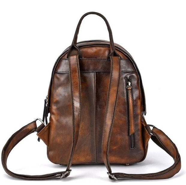 LOVIA Genuine Leather Backpack - VINNALEA