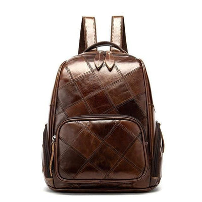 LOVA Genuine Leather Backpack Brown