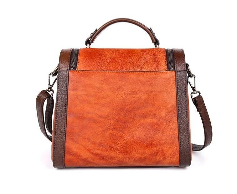 KELIA Genuine Leather Handbag - VINNALEA