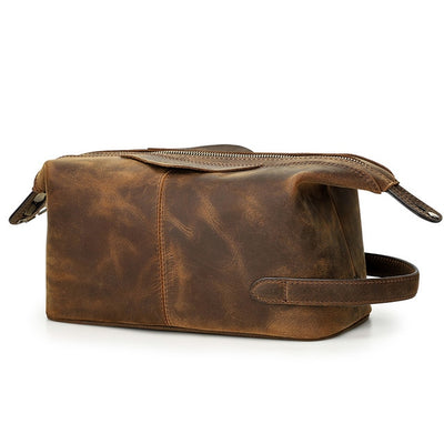 DOVIEL Genuine Leather Toiletry Bag
