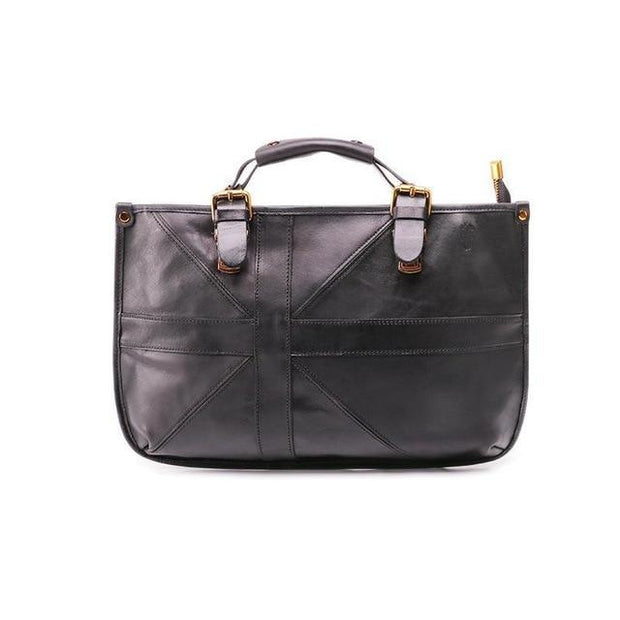VILIANA Genuine Leather Handbag Large - brown