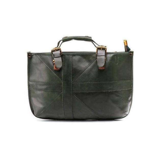 VILIANA Genuine Leather Handbag Large - green