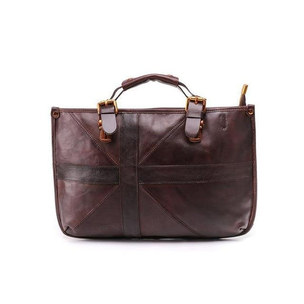 VILIANA Genuine Leather Handbag Large - coffee