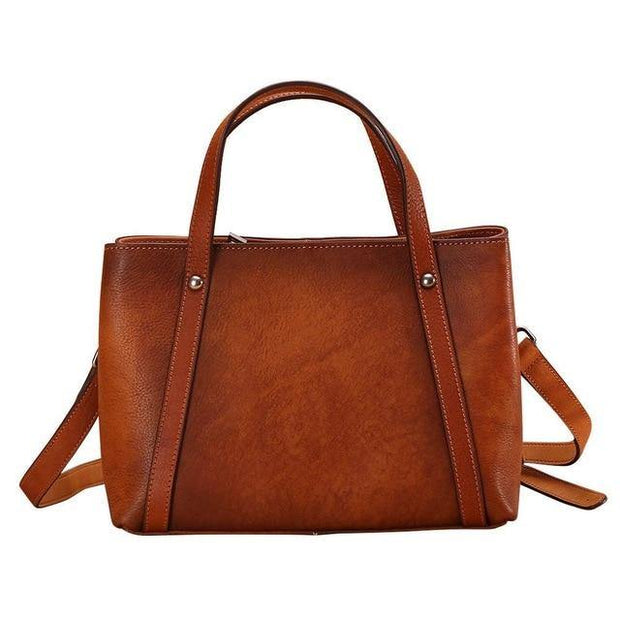 BRILLA Genuine Brown Leather Handbag