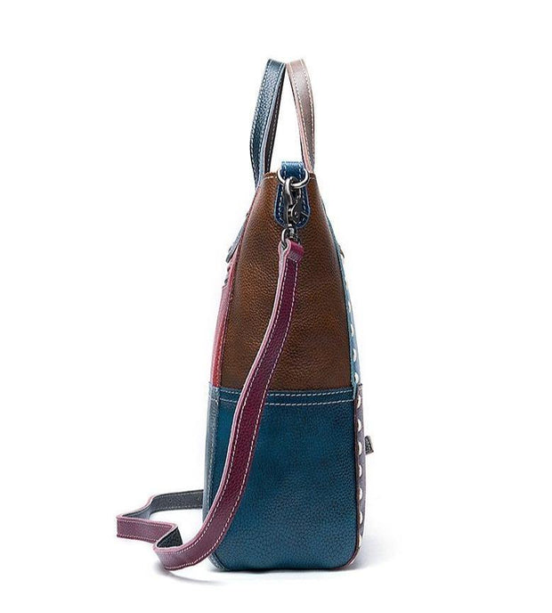 CARRA Genuine Leather Tote Handbag - VINNALEA