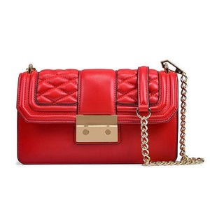 Open image in slideshow, YMMA Genuine Leather Handbag - red