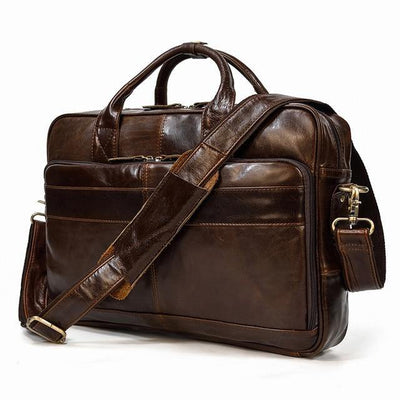 ULIEN Genuine Leather Briefcase