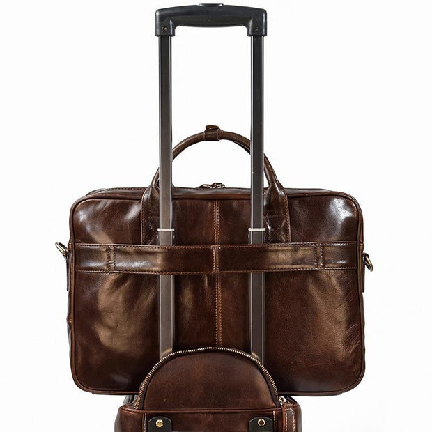 ULIEN Genuine Leather Briefcase - VINNALEA