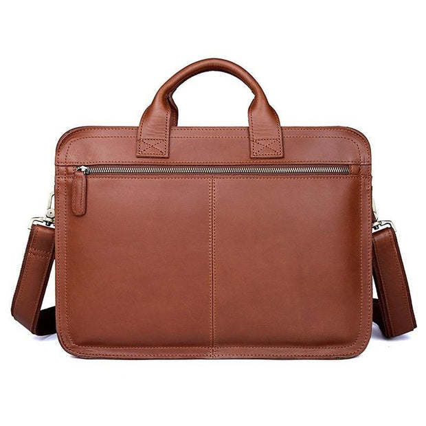 ETHIN Genuine Leather Briefcase - VINNALEA