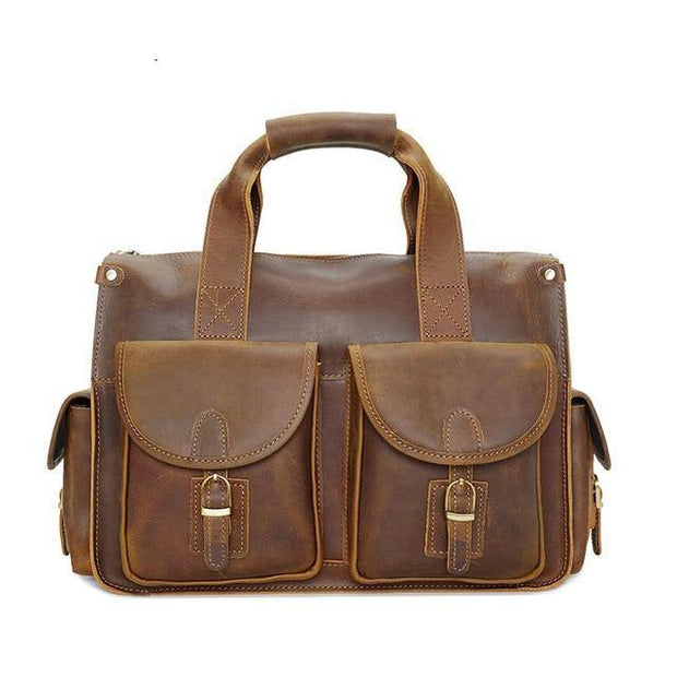 LIADEN Genuine Leather Laptop Briefcase