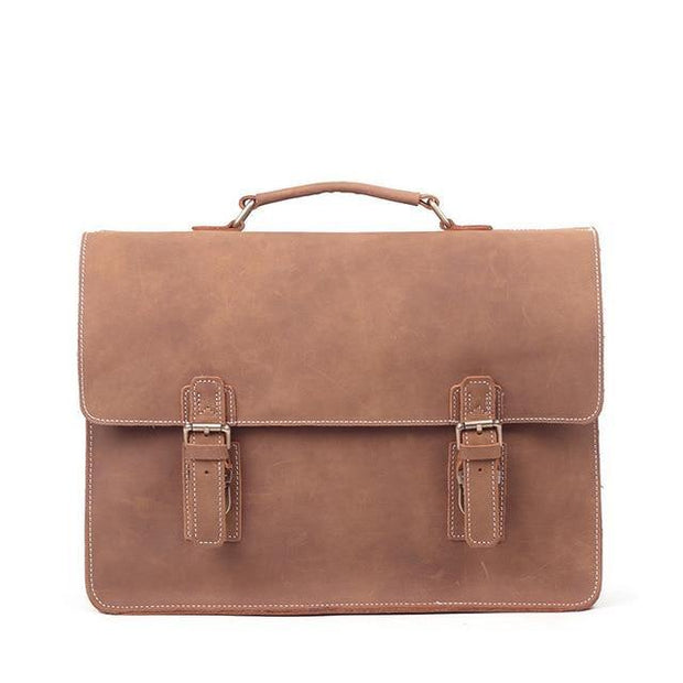 FLORIAS Genuine Leather Briefcase Bag