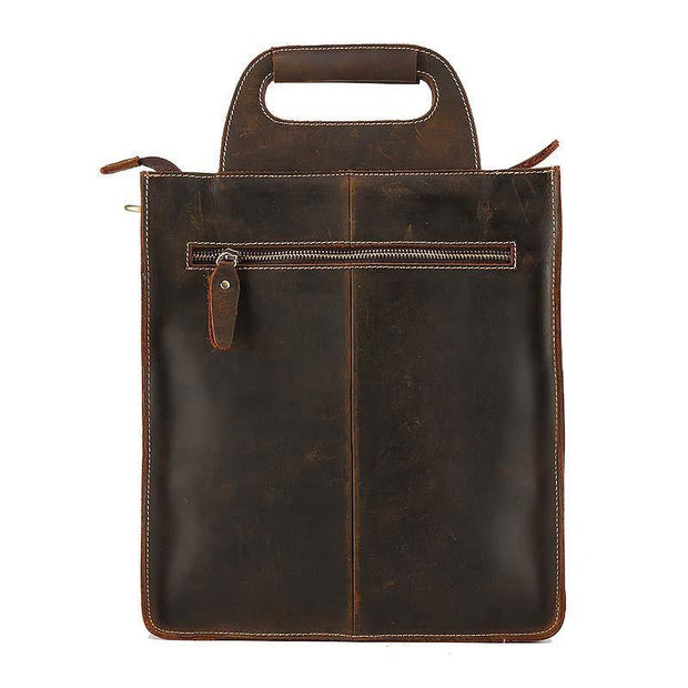 ADRON Genuine Leather Briefcase - VINNALEA