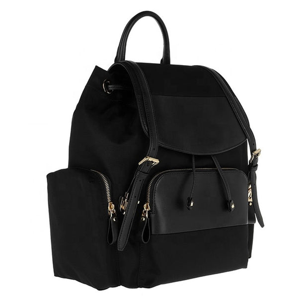 Genuine Leather Diaper Bag Backpack JUJA - Black
