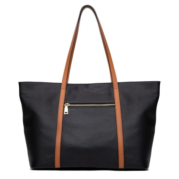 WILLA Genuine Leather Tote Handbag - VINNALEA