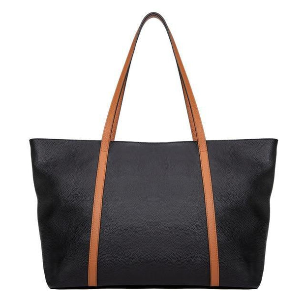 WILLA Genuine Leather Large Tote - VINNALEA