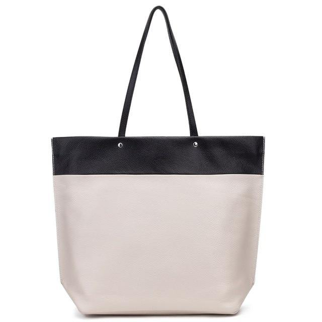 WINELA Genuine Leather Tote Handbag