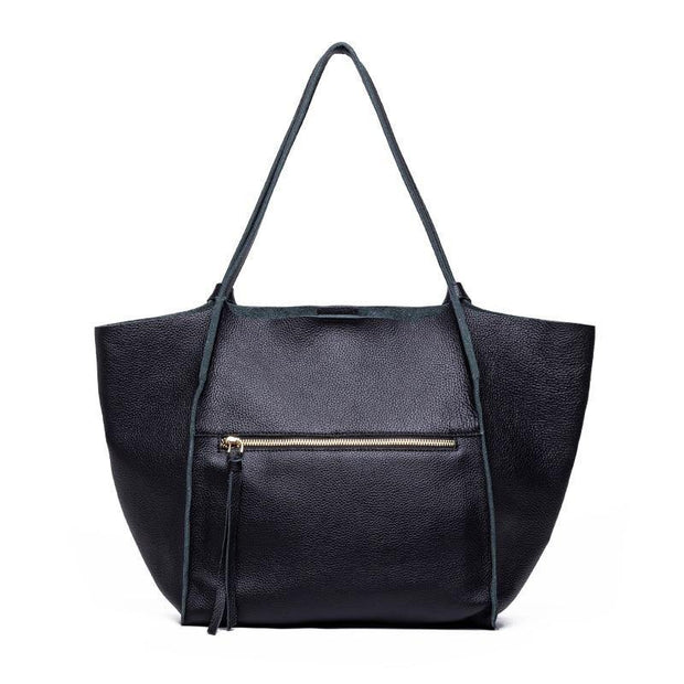 EDIA Genuine Leather Tote Handbag - VINNALEA