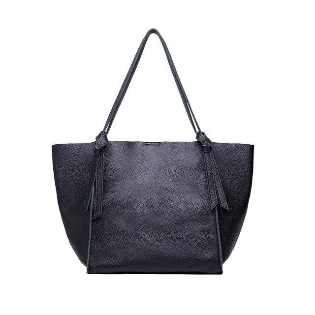 EDIA Genuine Leather Tote Handbag