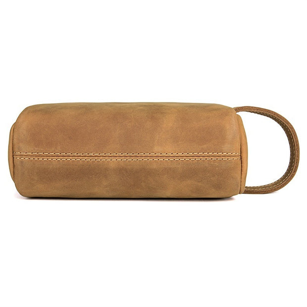 DILA Genuine Leather Travel Toiletry Bag