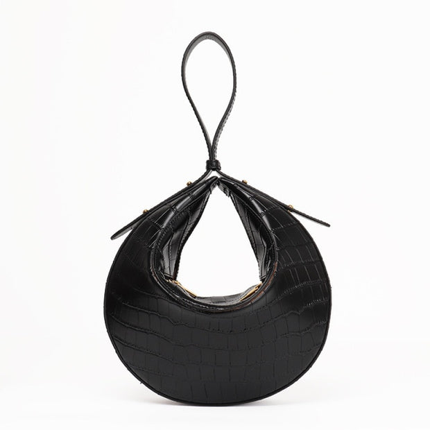 Genuine Leather Hobo Purse DILA