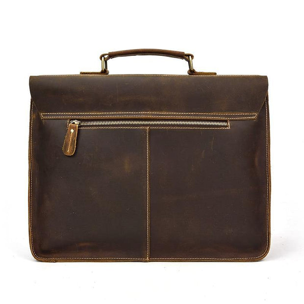 DEDIAN Genuine Leather Briefcase - VINNALEA