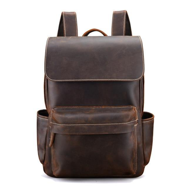 DAYWEN Genuine Leather Backpack