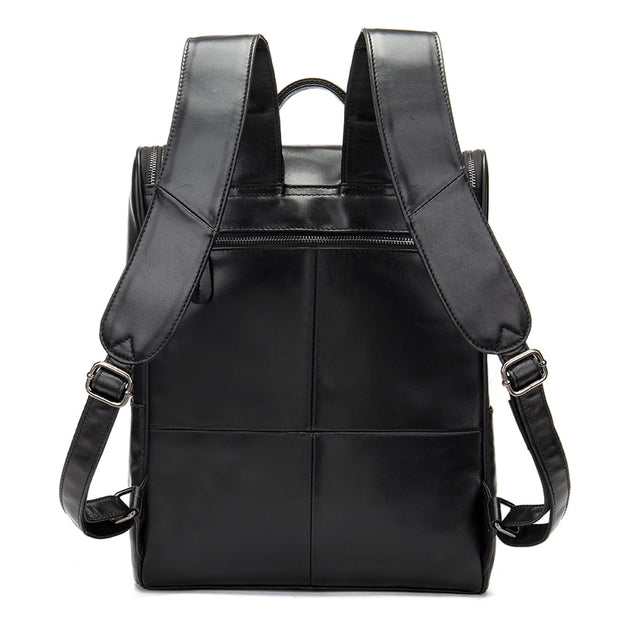 NIVEN Genuine Leather Laptop Backpack
