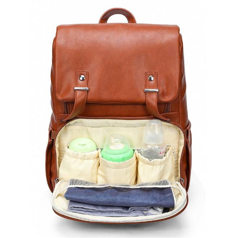 Genuine Leather Diaper Bag KOBEA