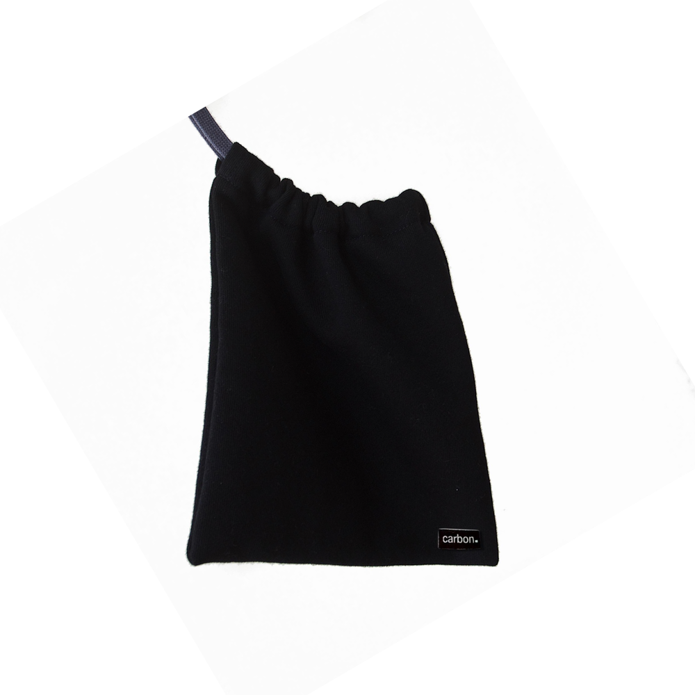 Carbon Drawstring Mask Pouch
