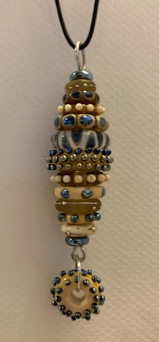 Stacked bead pendant