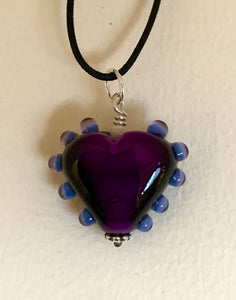 "Purple Heart pendant, 1 1/4"" long, 1"" wide"