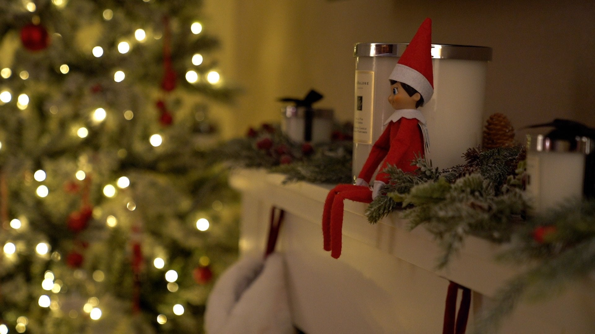 Elf on the shelf delivery and video message from Father Christmas