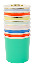 Bright Party Palette Tumbler Cups