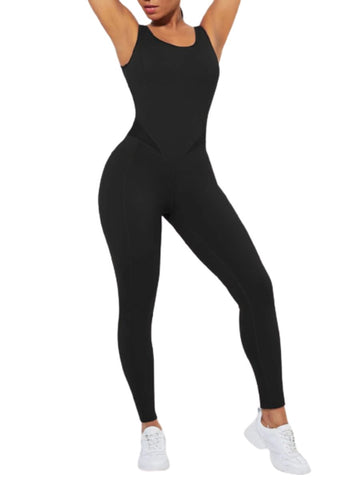 Running Bodysuit Wide Strap Ankle Length Stretch