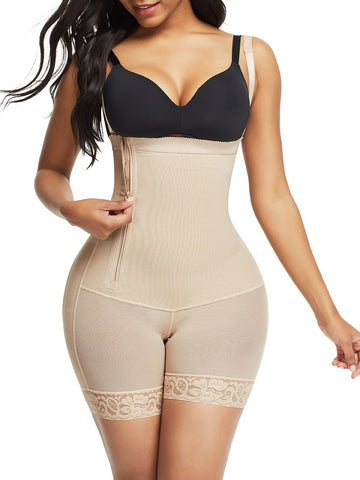 Pretty Black Detachable Straps Side Zip Body Shaper Leisure Fashion