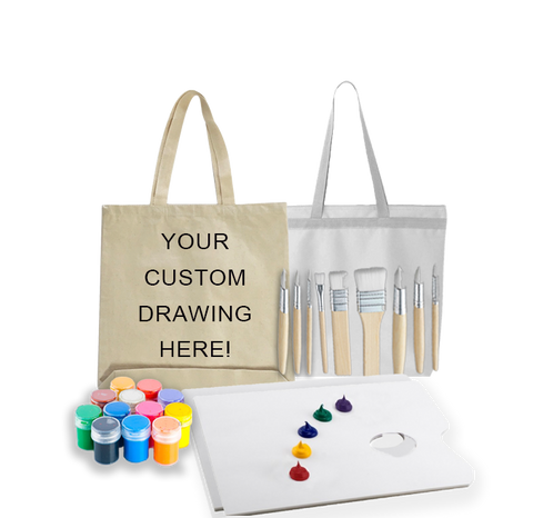 Tote Bag Painting Kit for 2