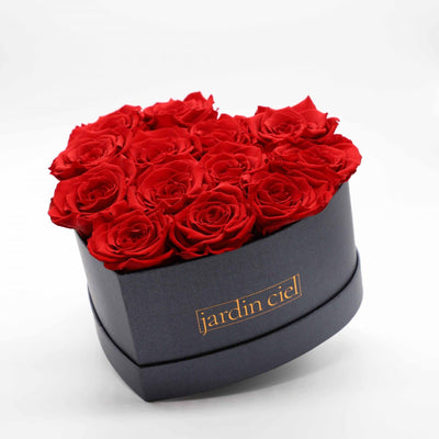 Infinity Heart Rosebox | Romantic Red | Gr. L - Jardin Ciel GmbH