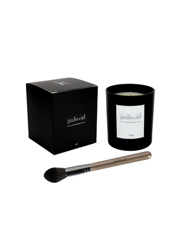 Set Scented Candle + Infinity Brush Black - Jardin Ciel GmbH